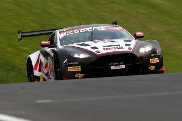 Jonny Adam in the British GT-winning Aston Martin Vantage GT3