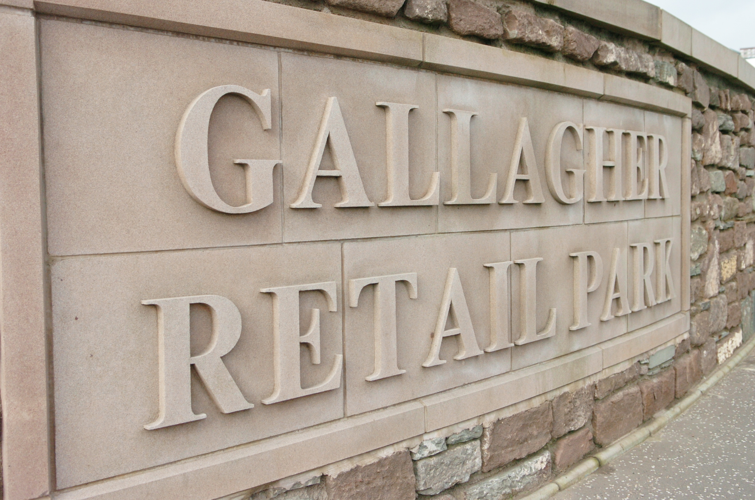 The alleged incident took place at the Gallagher Retail Park