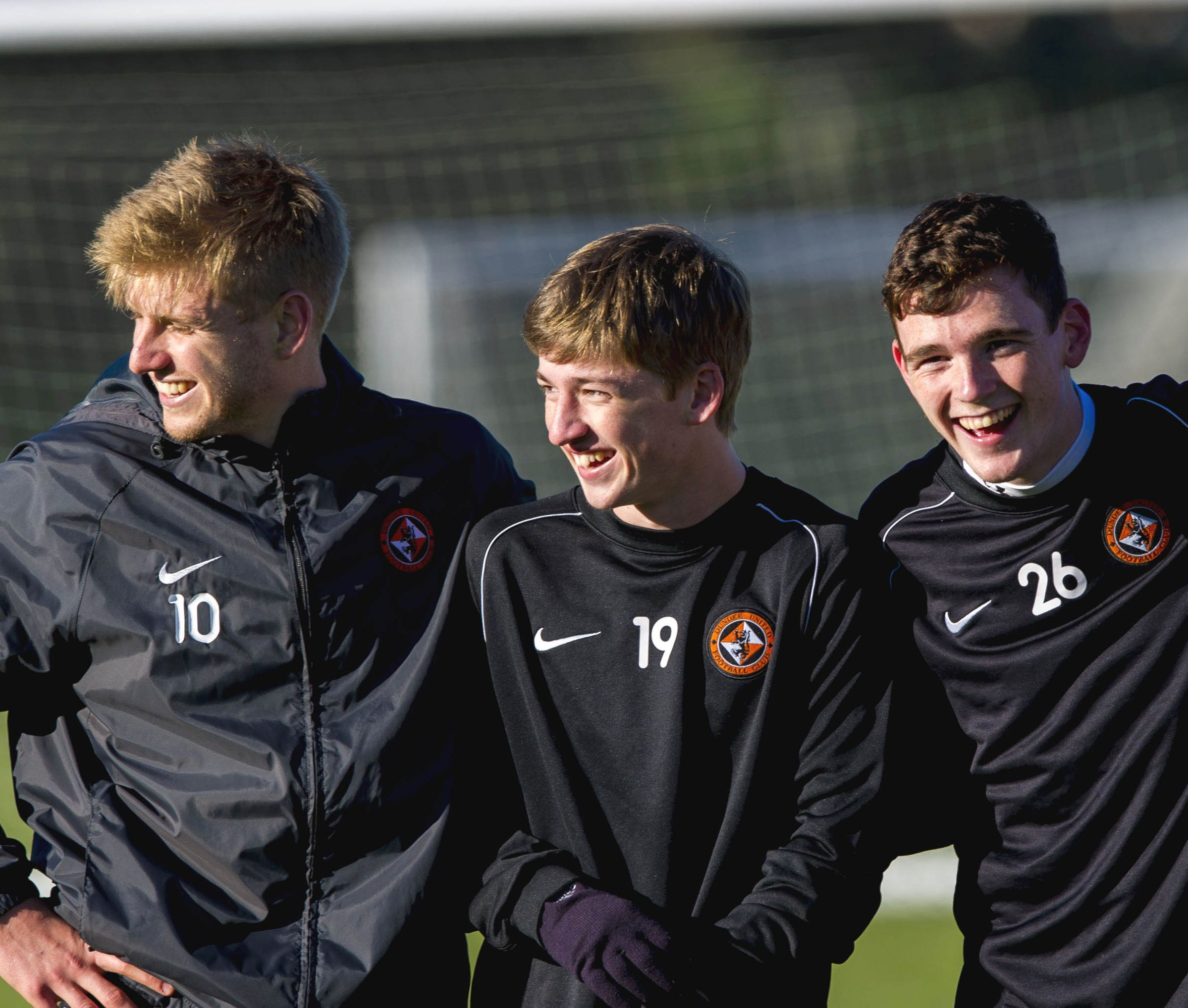 Three young players who made their names at Dundee United - Stuart Armstrong, Ryan Gauld and Andy Robertson.
