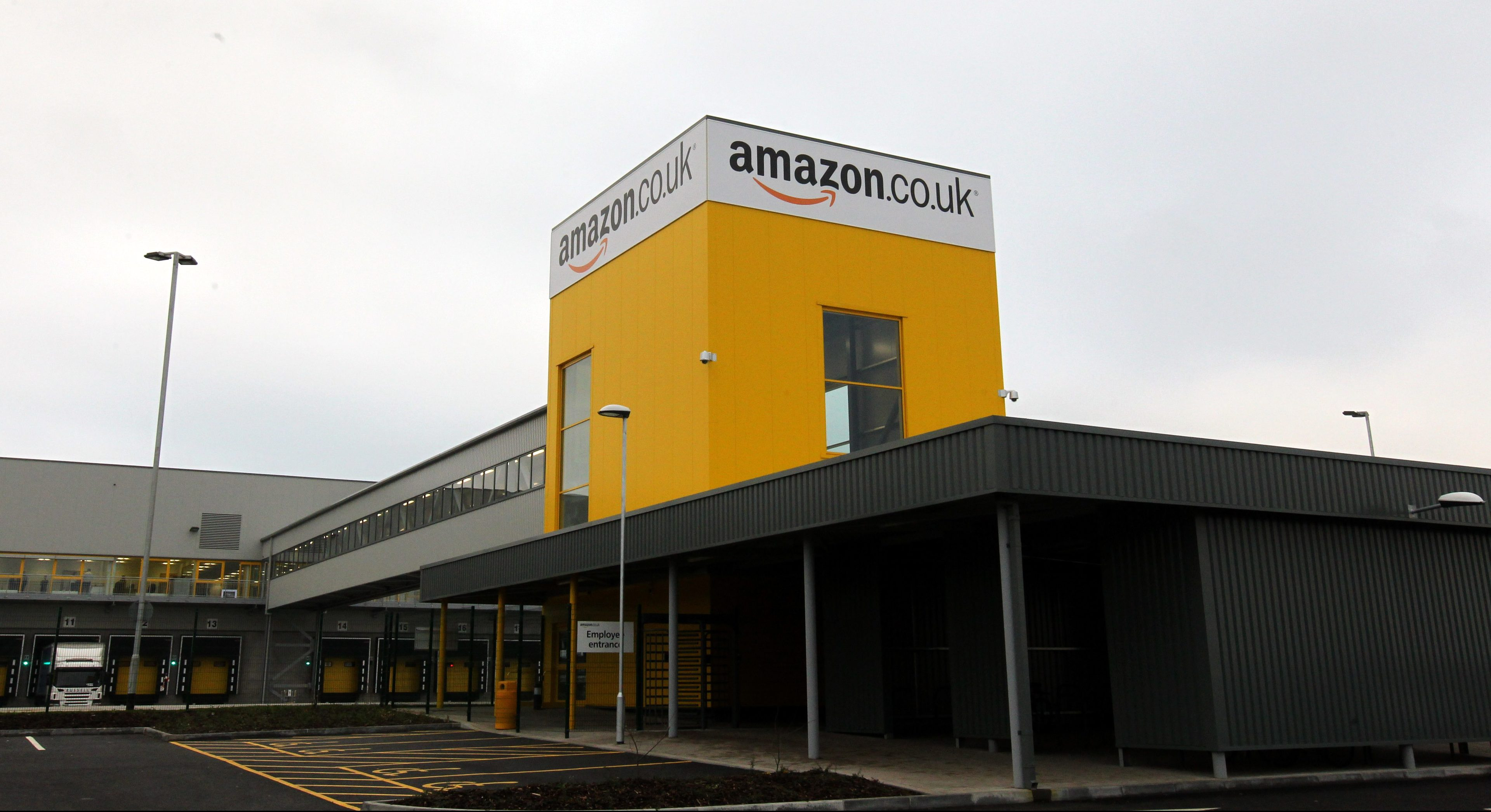 Amazon's fulfilment centre in Dunfermline.