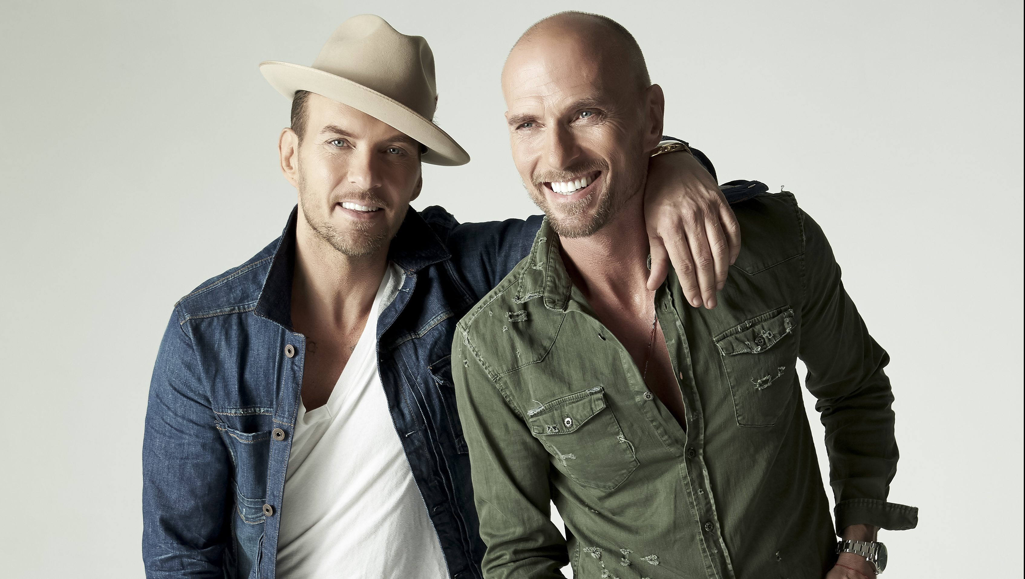 Bros legends Matt and Luke Goss.