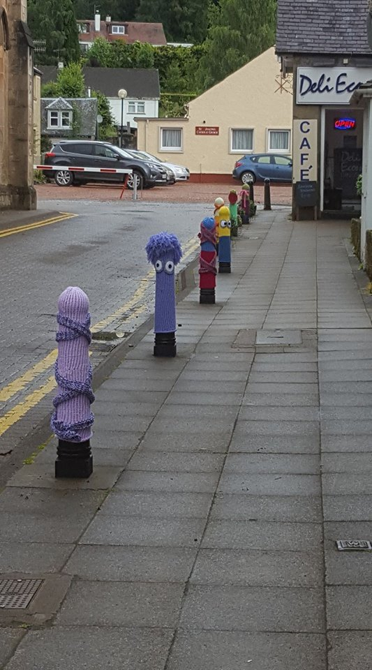 Callander's summer bollards