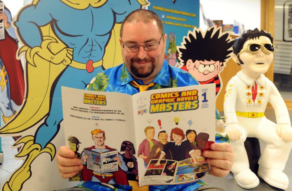 Professor Chris Murray, professor of comic studies at Dundee University