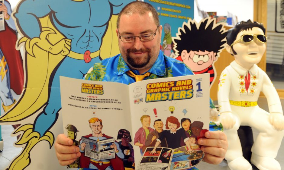 Professor Chris Murray, professor of comic studies at Dundee University