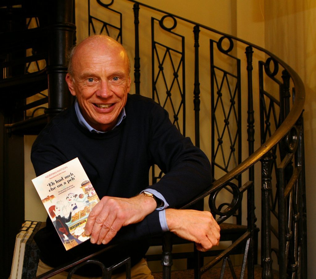 Author Norman Watson with his new book of Dundonian sayings.