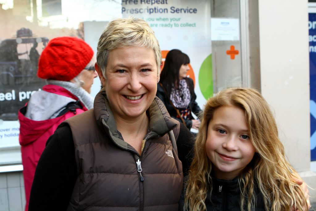 Karen Welch and daughter Freya.