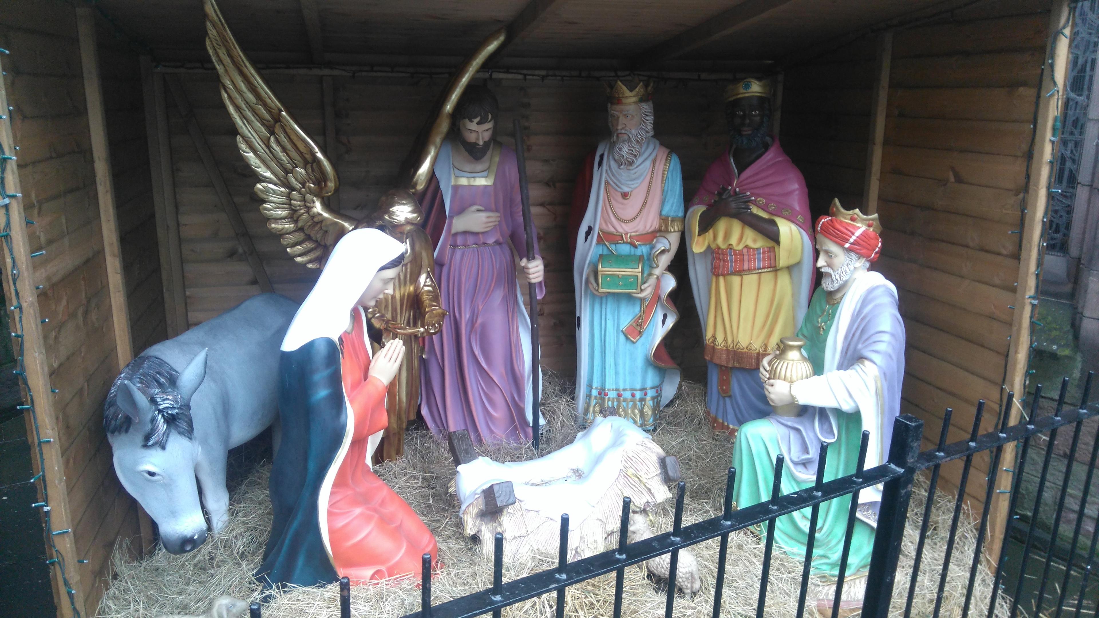 The Nativity Scene at St John's Kirk, awaiting the model's return.