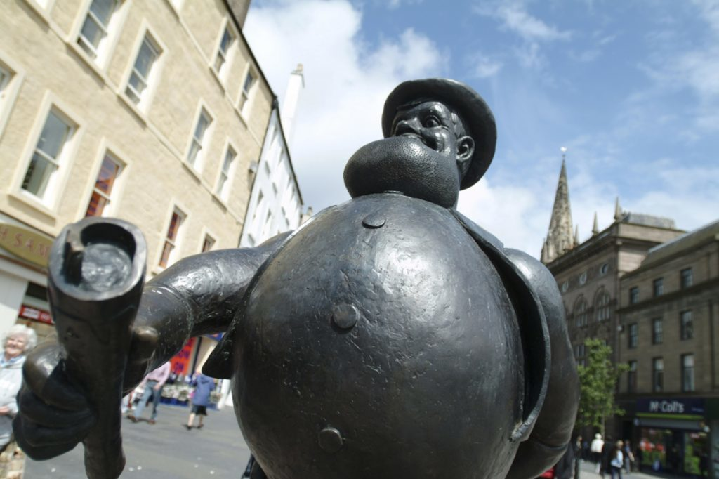 Desperate Dan - a focal point in Dundee city centre