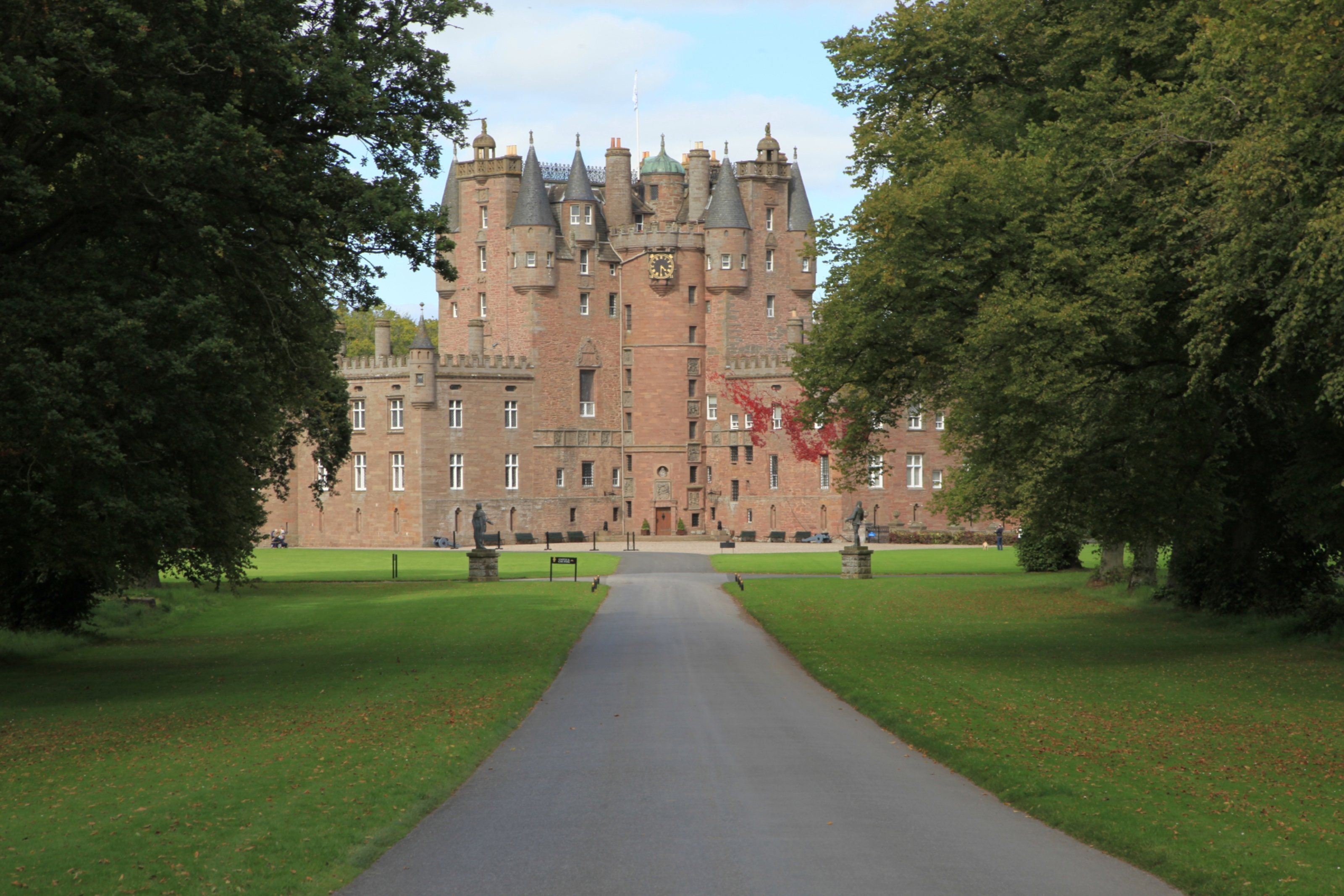 Glamis House is located within the Glamis Castle estate,.