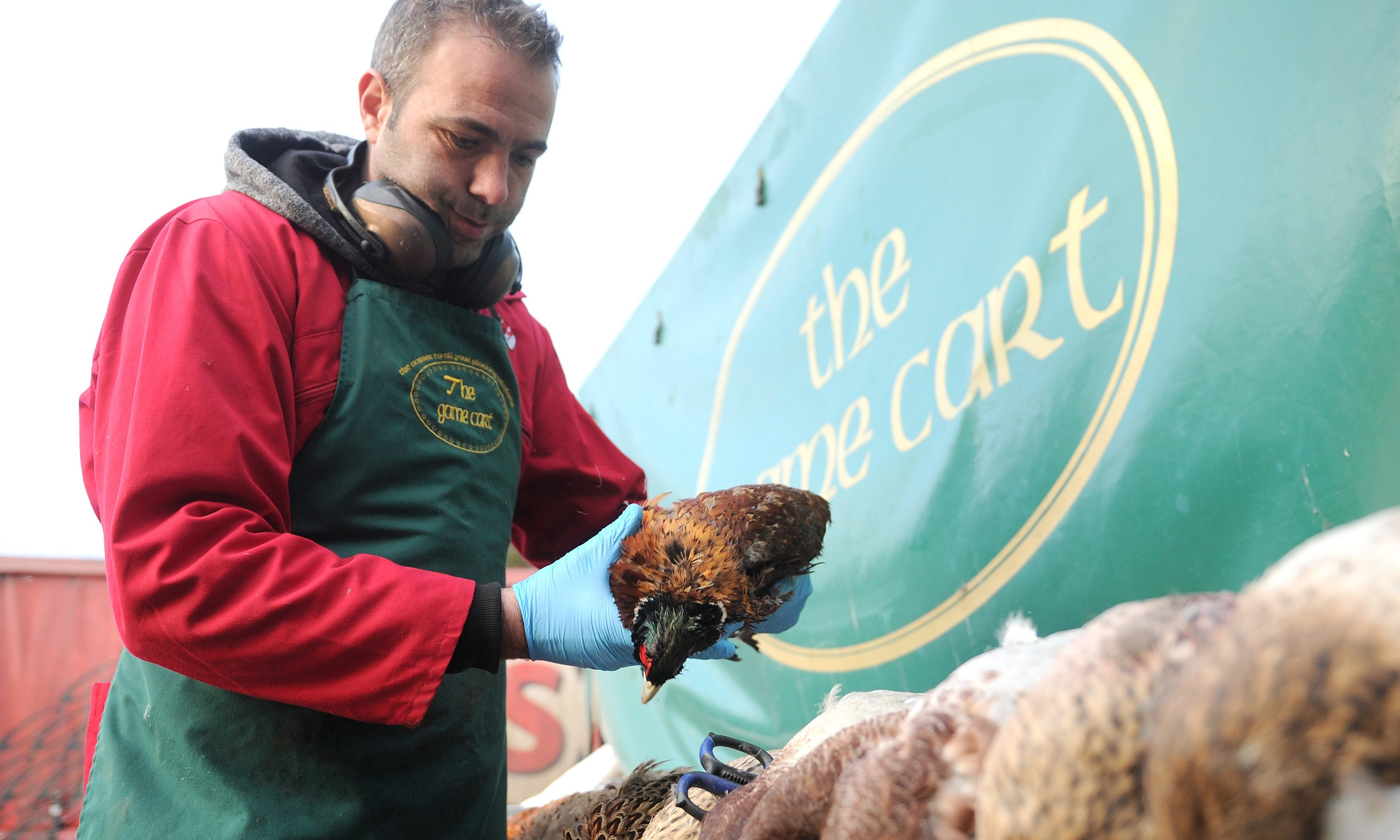 Donny Prodanov processing some of the game birds ahead of Christmas at The Game Cart