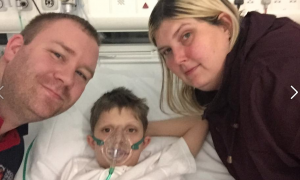 Seven-year-old Kenzy rushed to London for vital liver transplant
