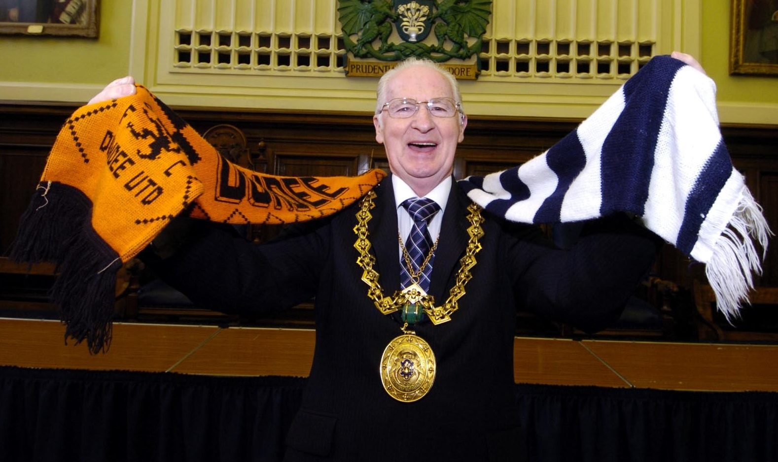 Former Dundee Lord Provost John Letford remains impartial to city football back in 2005.