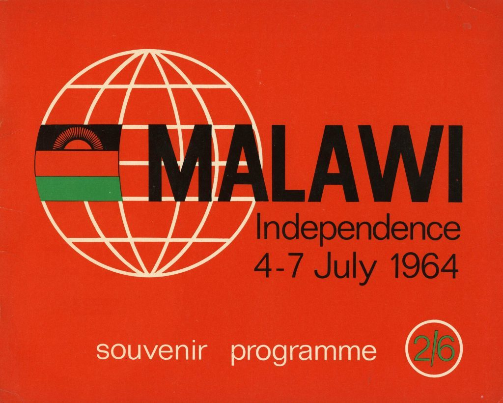 A souvenir programme celebrating independence for Malawi.