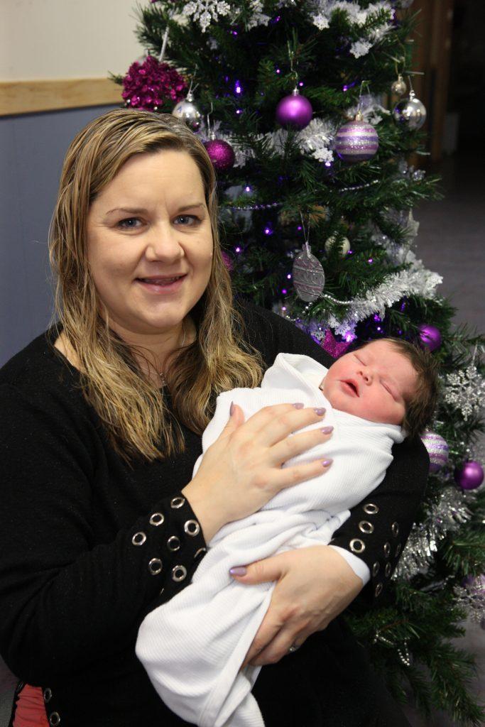 Lesley Buick with baby Isla.