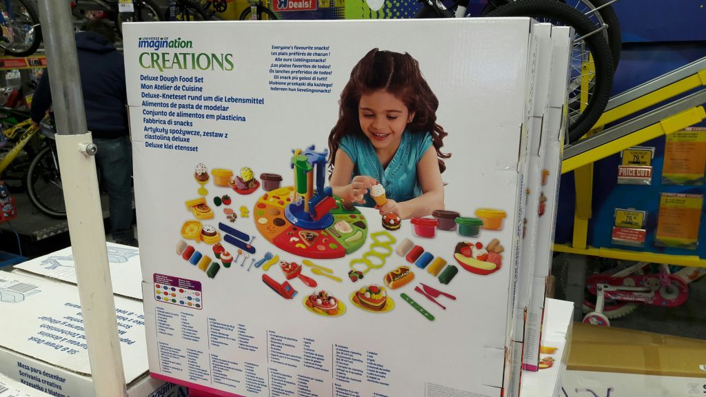 Cookery sets marketed towards young girls on sale at Toys R Us in Dundee