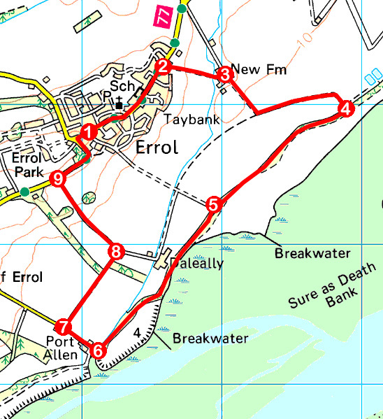 take-a-hike-143-december-17-2016-banks-of-the-tay-errol-perth-kinross-os-map-extract