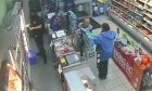 Kim MacKenzie seen with Steven Jackson in the Co-op in Montrose High Street hours before he murdered her.