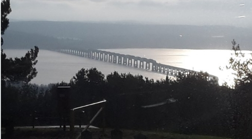 Mr Robson's view of the Tay Bridge