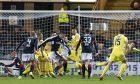 23/12/16 LADBROKES PREMIERSHIP     DUNDEE v HEARTS    DENS PARK - DUNDEE     Dundee's Darren O'Dea gets a goal back