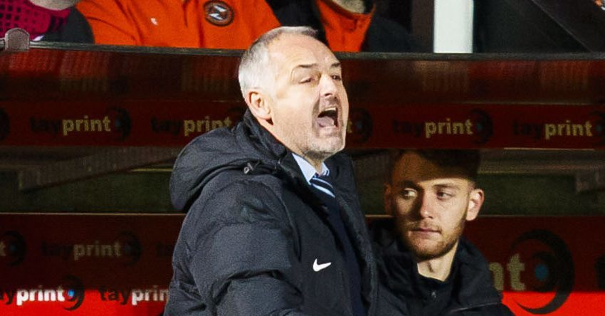 Ray McKinnon shouts out his orders.