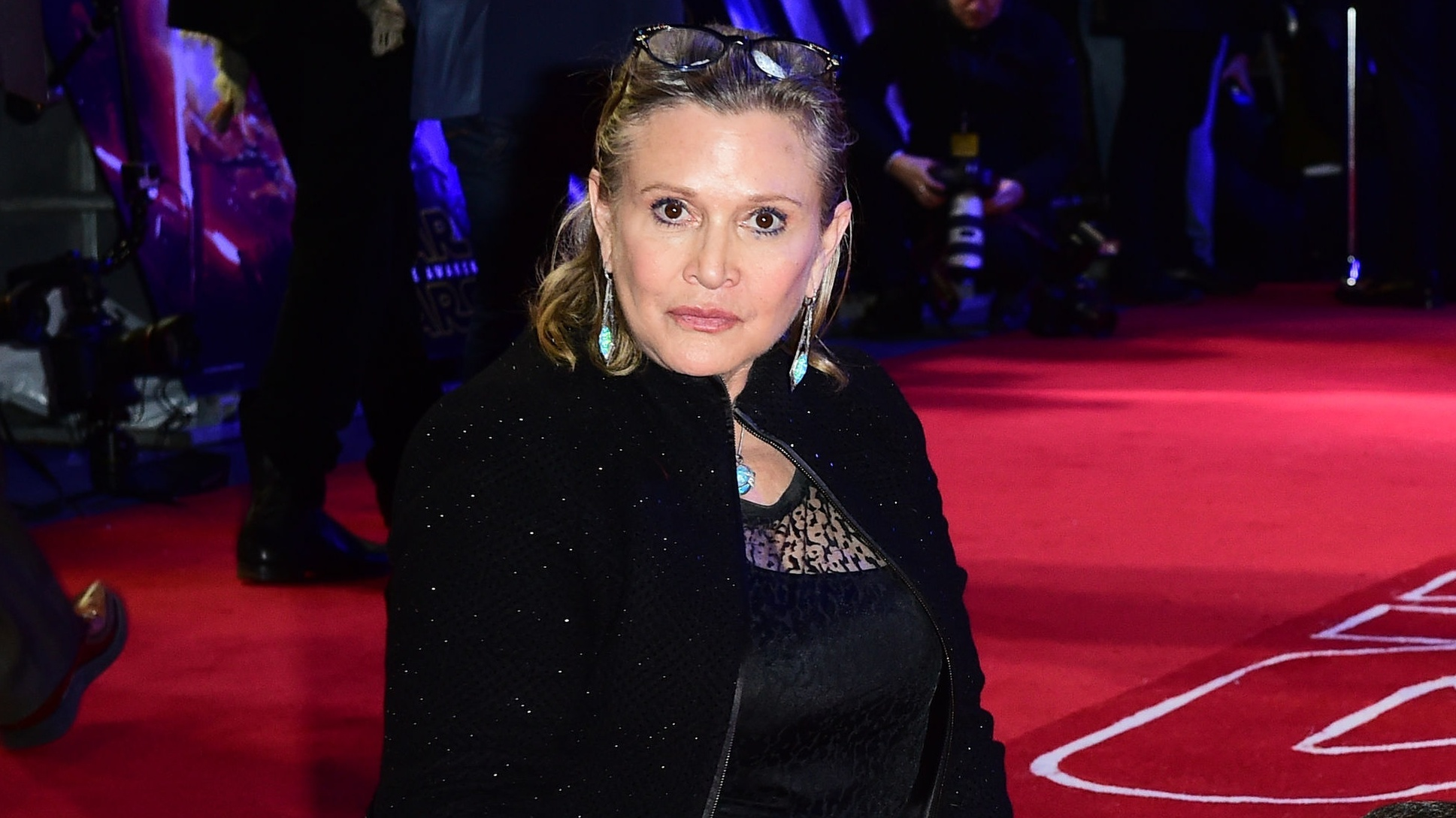 Carrie Fisher took part in a midnight ceilidh at Dundee railway station