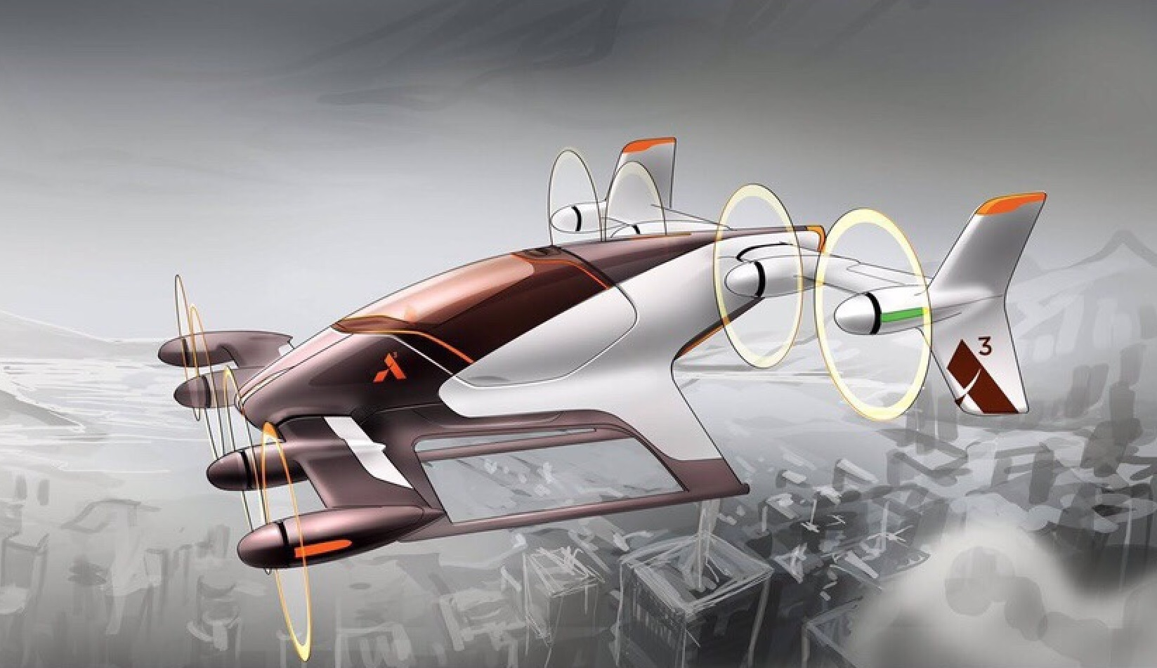 The company's Silicon valley branch is working on helicopter-inspired transport for single passengers.