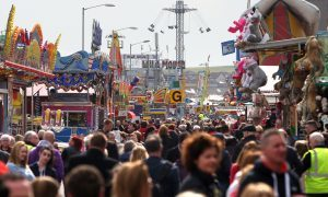 Huge crowds are drawn to the Links Market.