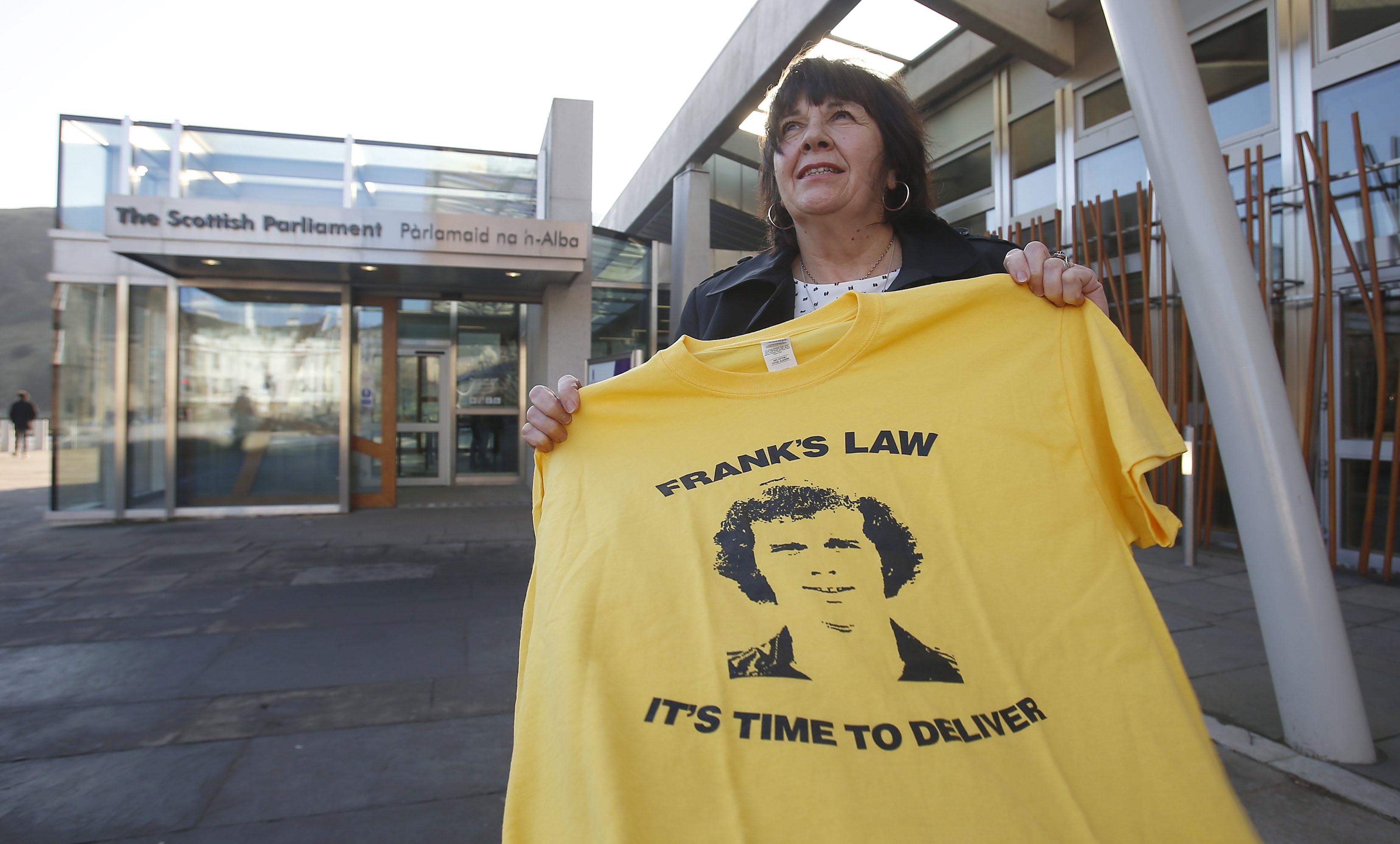 Amanda Kopel campaigning for Frank's Law.