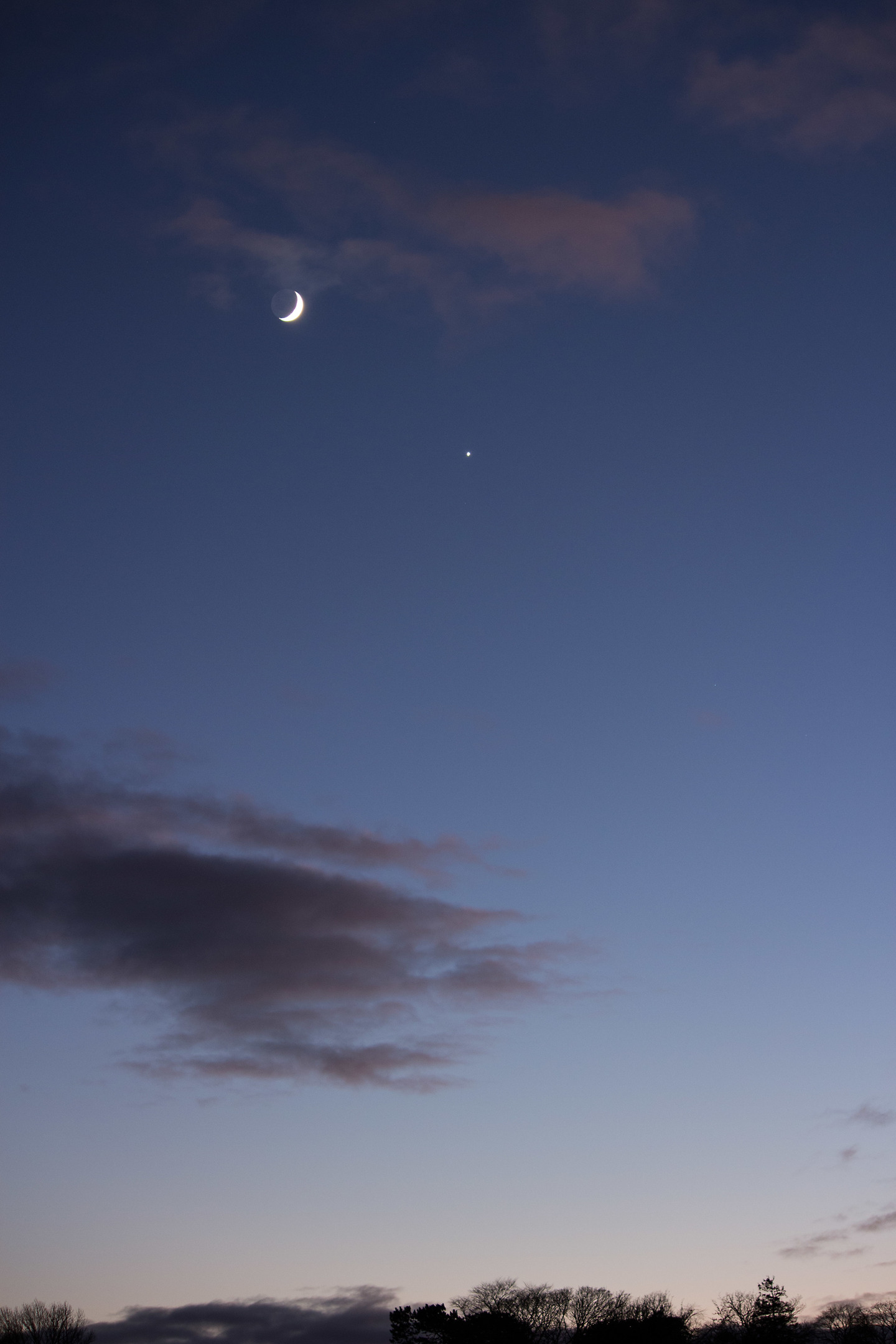 Venus and the Moon, as pictured from Broughty Ferry on 2 January.