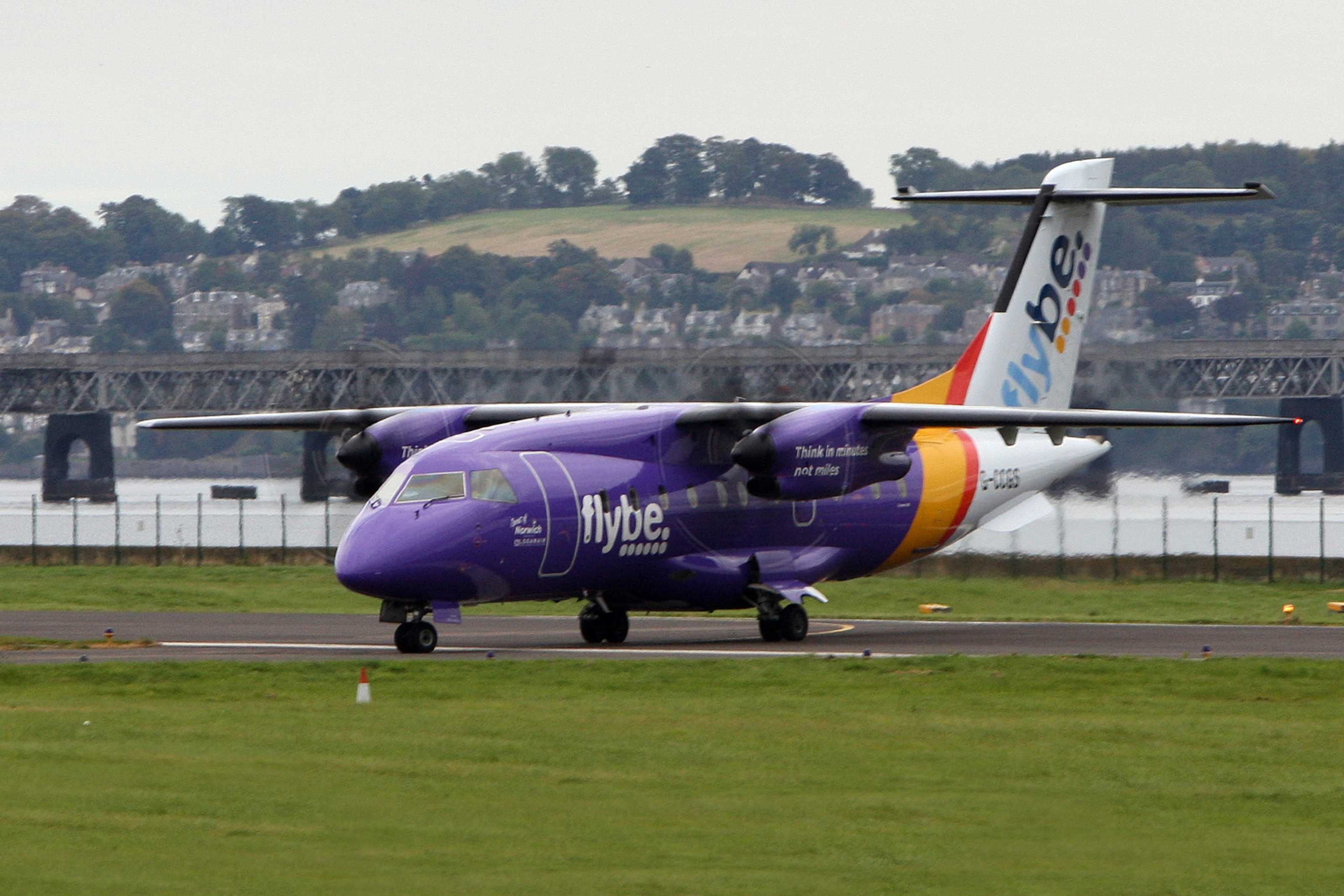A Flybe plane at Dundee airport.