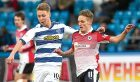 Bobby Barr (right) challenges Morton's Jamie Lindsay.