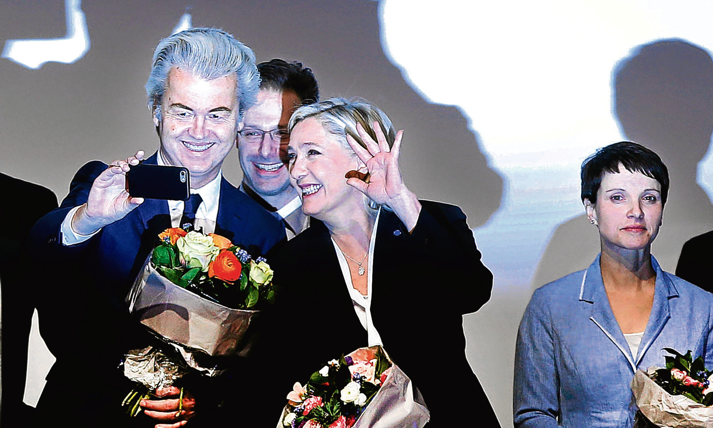 Geert Wilders and Marine le Pen at a meeting of nationalists in Koblenz at the weekend, a gathering Alex says we should be fearful of.