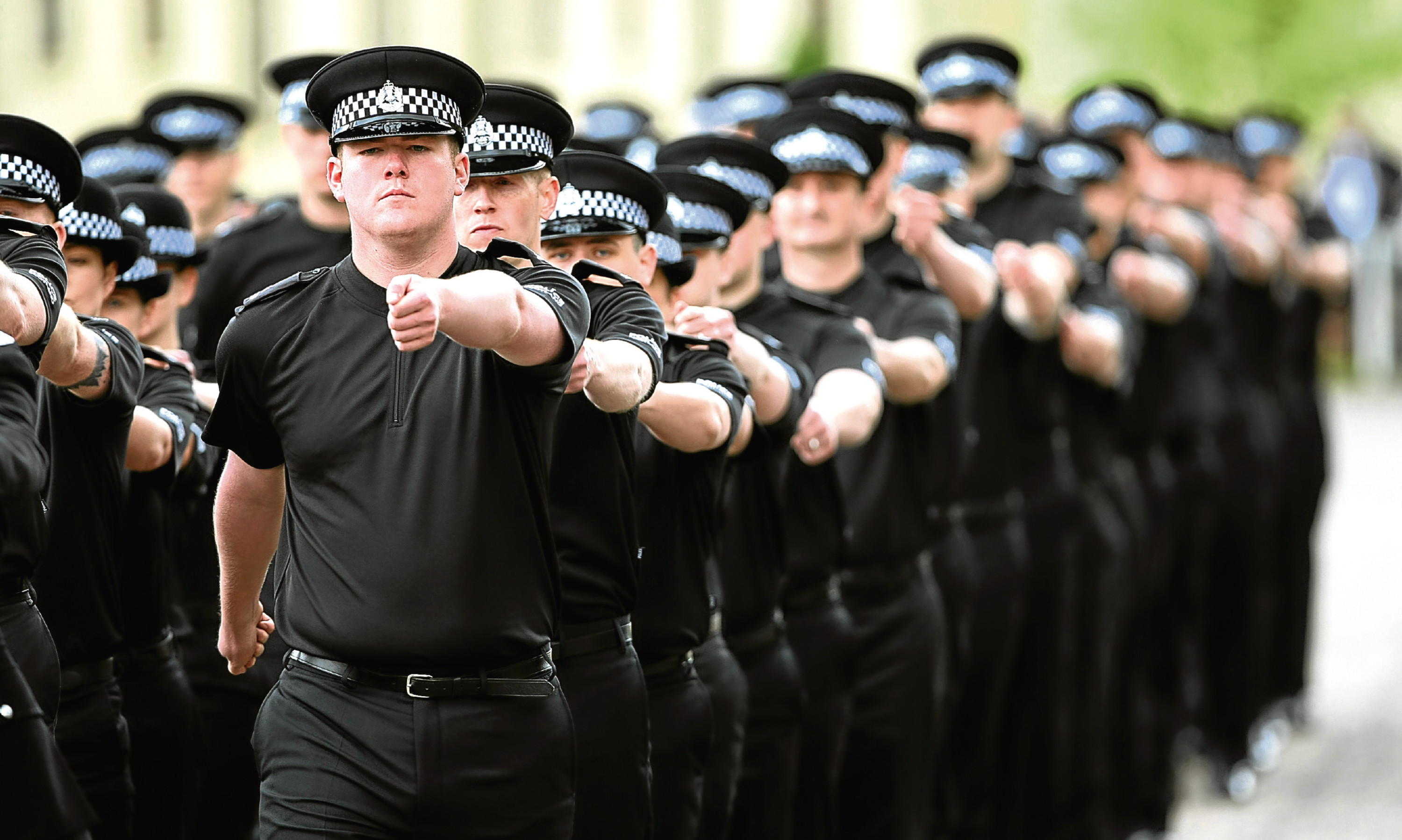 Recruits pass out from Tulliallan Police College.