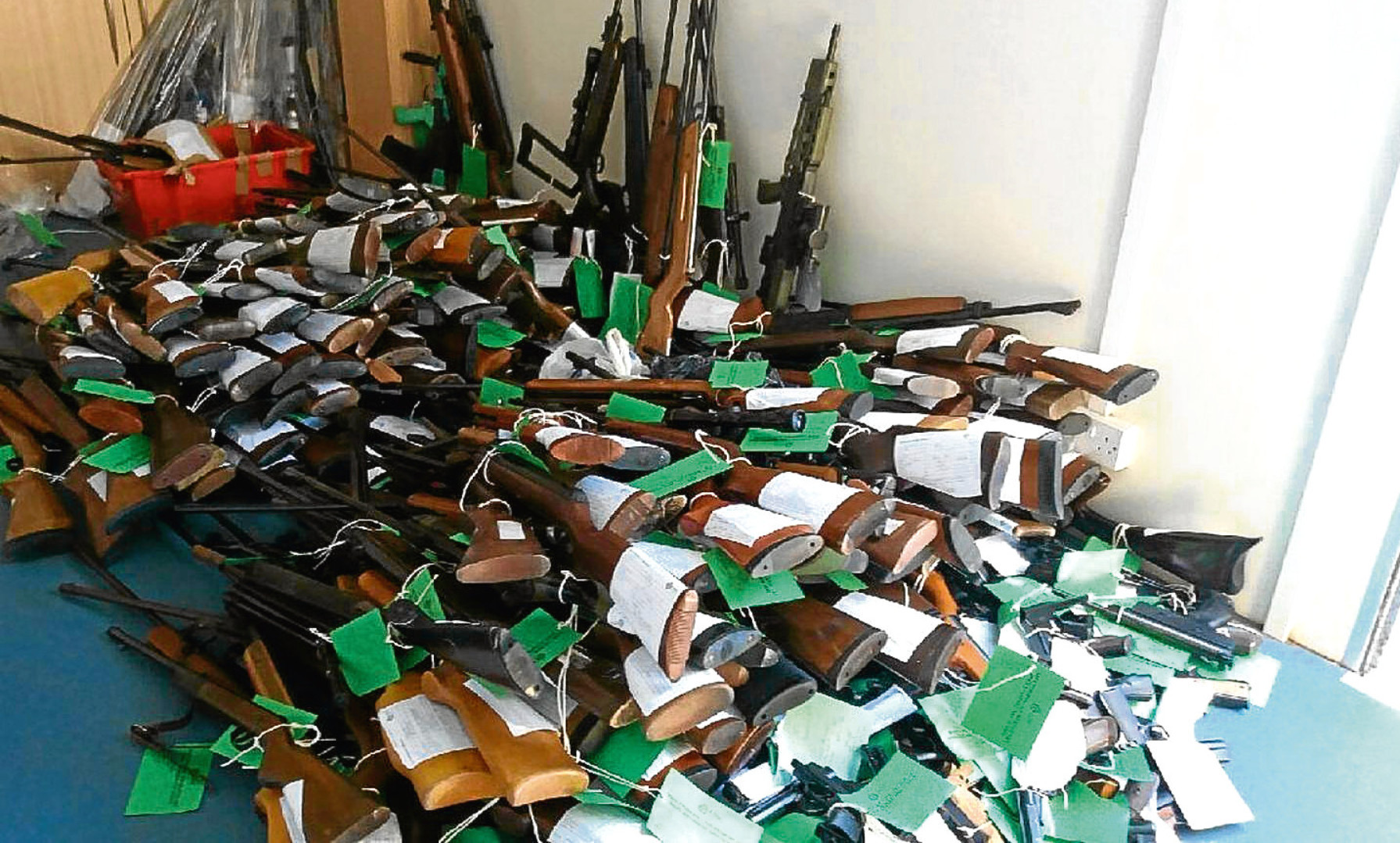 Air weapons surrendered to police before licensing regulations were introduced.