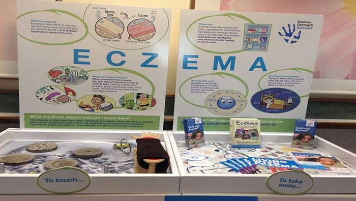 Work by Professor Sara Brown at the EDinburgh International Science Festival in 2016 helped bridge the gap between art and science -- and encouraged children with eczema to talk about their condition.