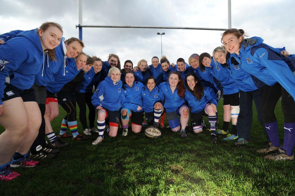 Howe Harlequins Ladies Rugby Team pictured at training in Cupar