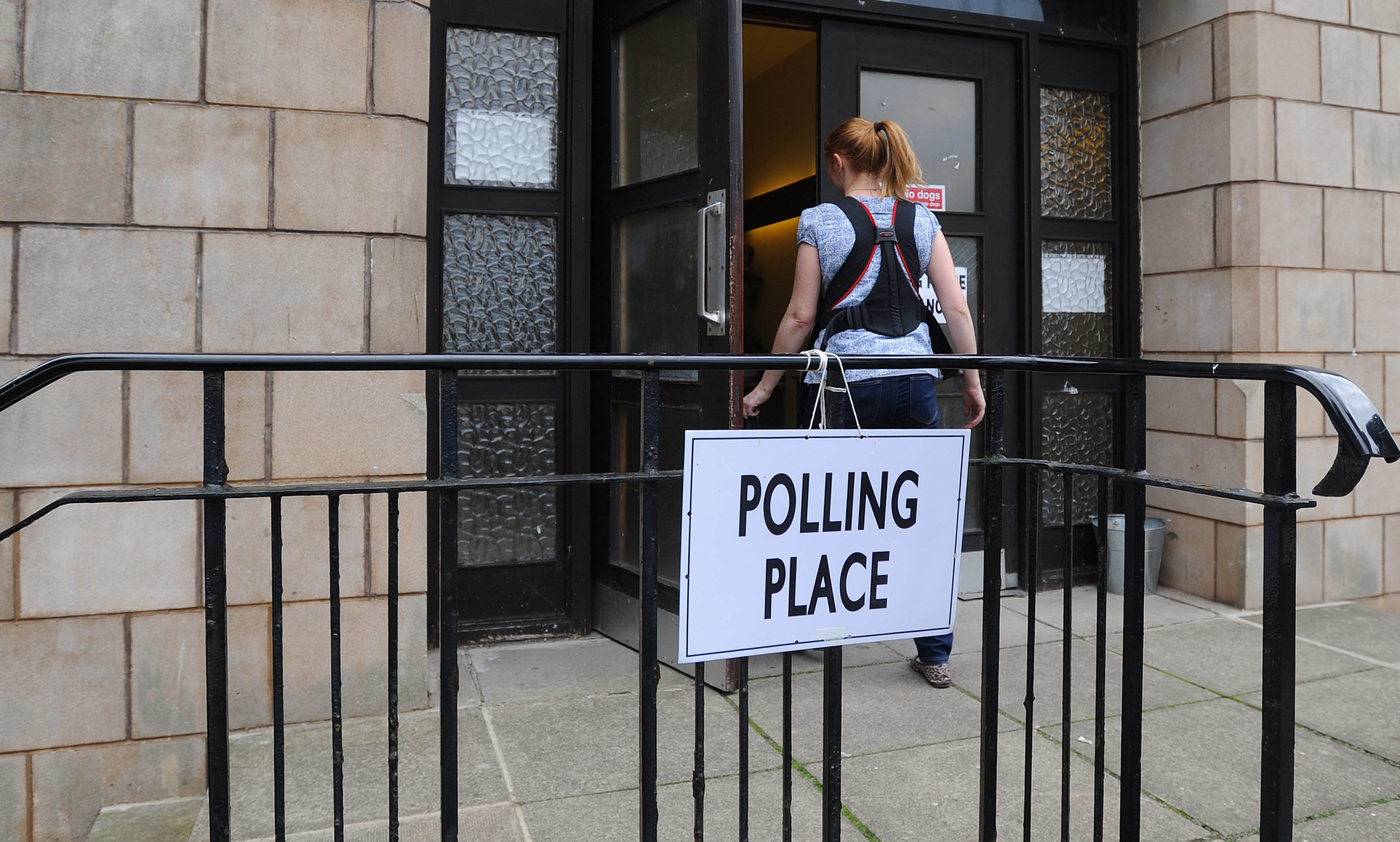 Staff at polling stations like this one in Newport's Blyth Hall are affected.