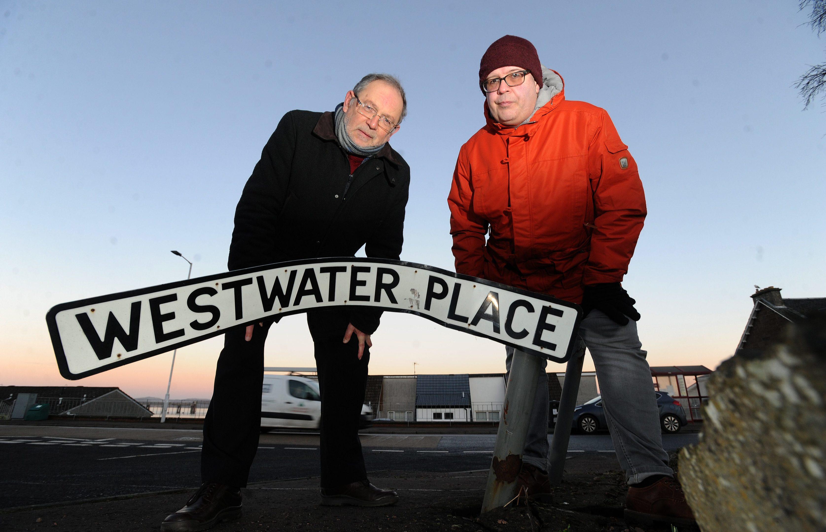 Councillor Tim Brett and community councillor Jonny Tepp