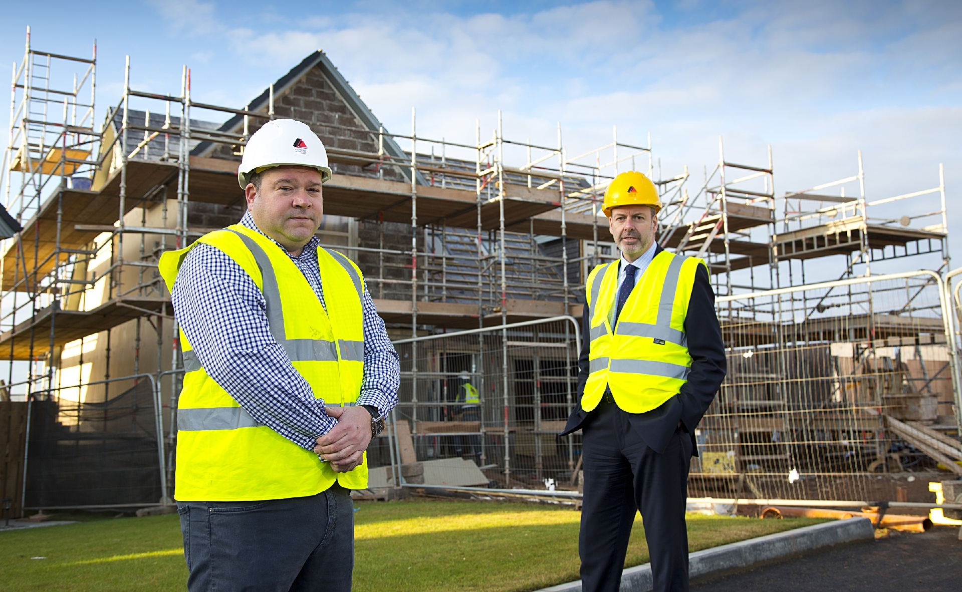 Kirkwood Homes MD Colin Crombie and Graham Fiddes, Bank of Scotland.