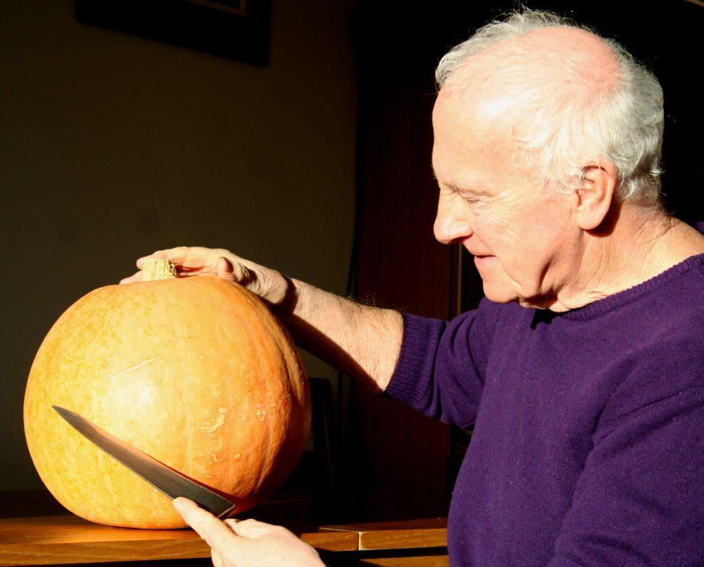 Pumpkin hundredweight ready for the pot