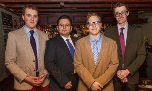 Ian Donnell, Konstantin Velichkov, Drew Liquerman and Elliot Jordan from Republicans Overseas.