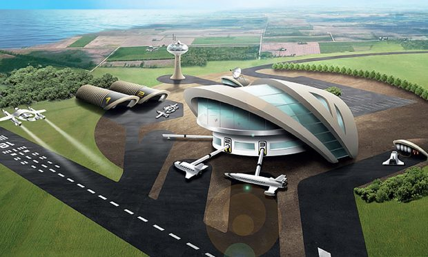 UK Space Agency image showing how Britain's first spaceport may look.