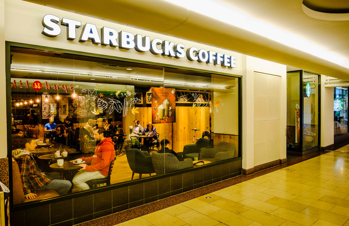 The expanded Starbucks in the Overgate helped boost food and drink sales over Christmas.