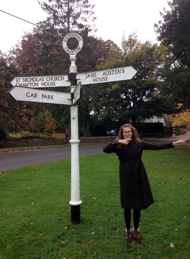 Ella on her way to Jane Austen's house.