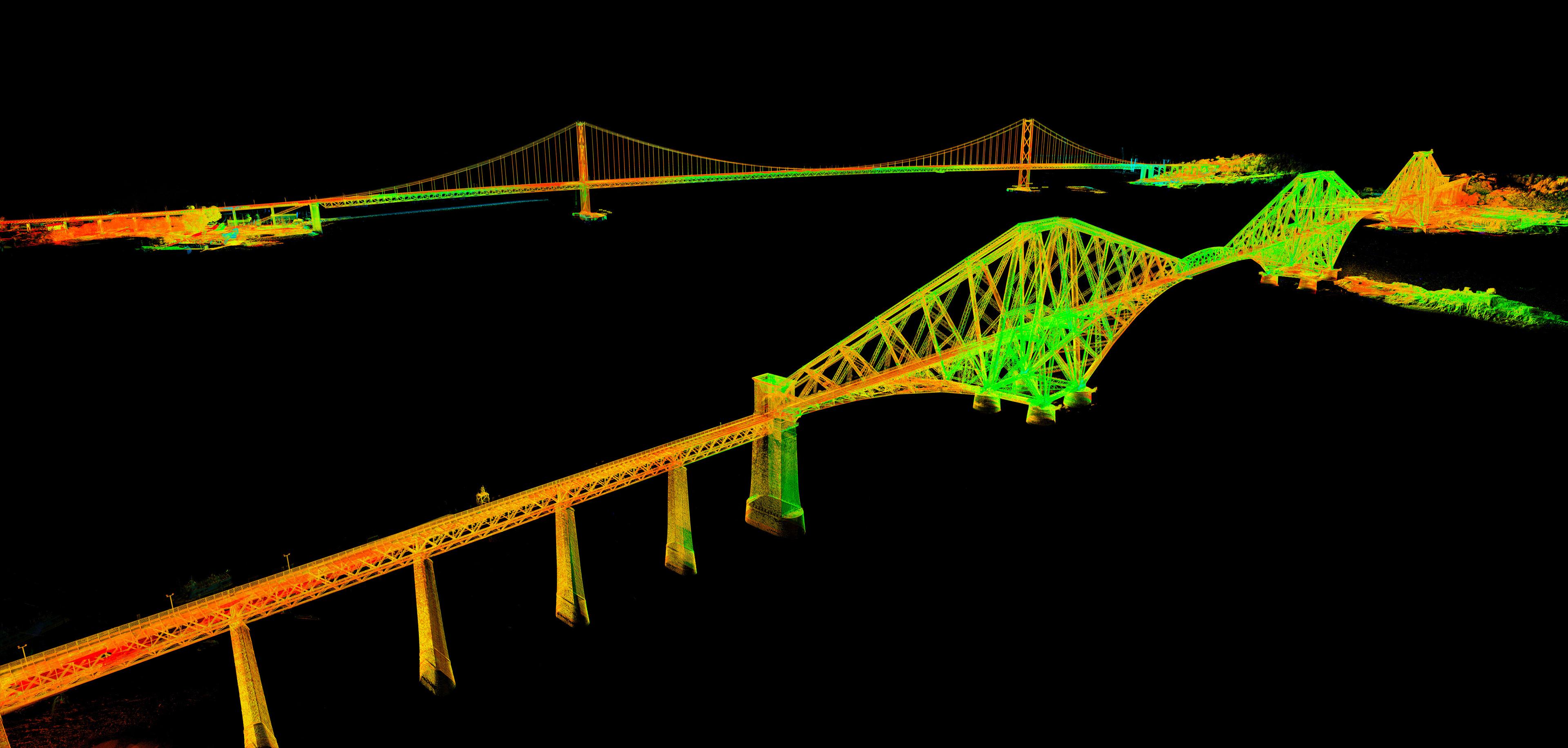 The Forth Bridge and Forth Road Bridge