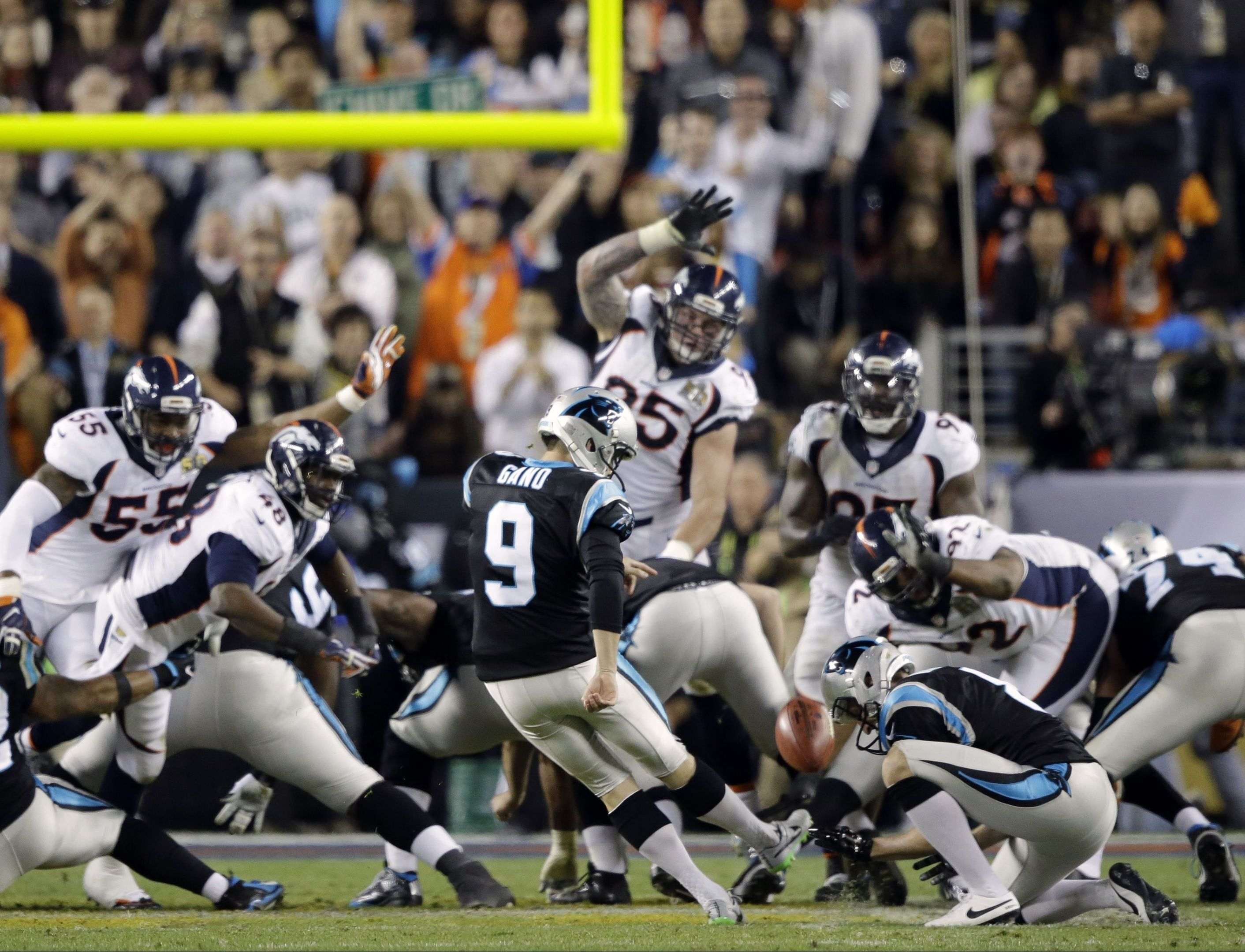 Gano (9) kicks a 39-yard field goal during the second half of the NFL Super  Bowl 50 football game. 2e631ae09