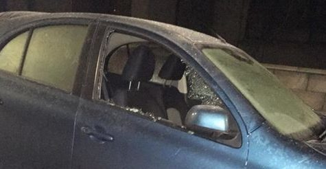 A Nissan Micra was vandalised on Main Street.