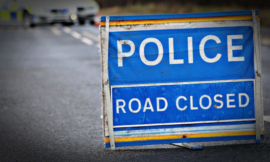 dct_stock_police_accident_crash_road_closed
