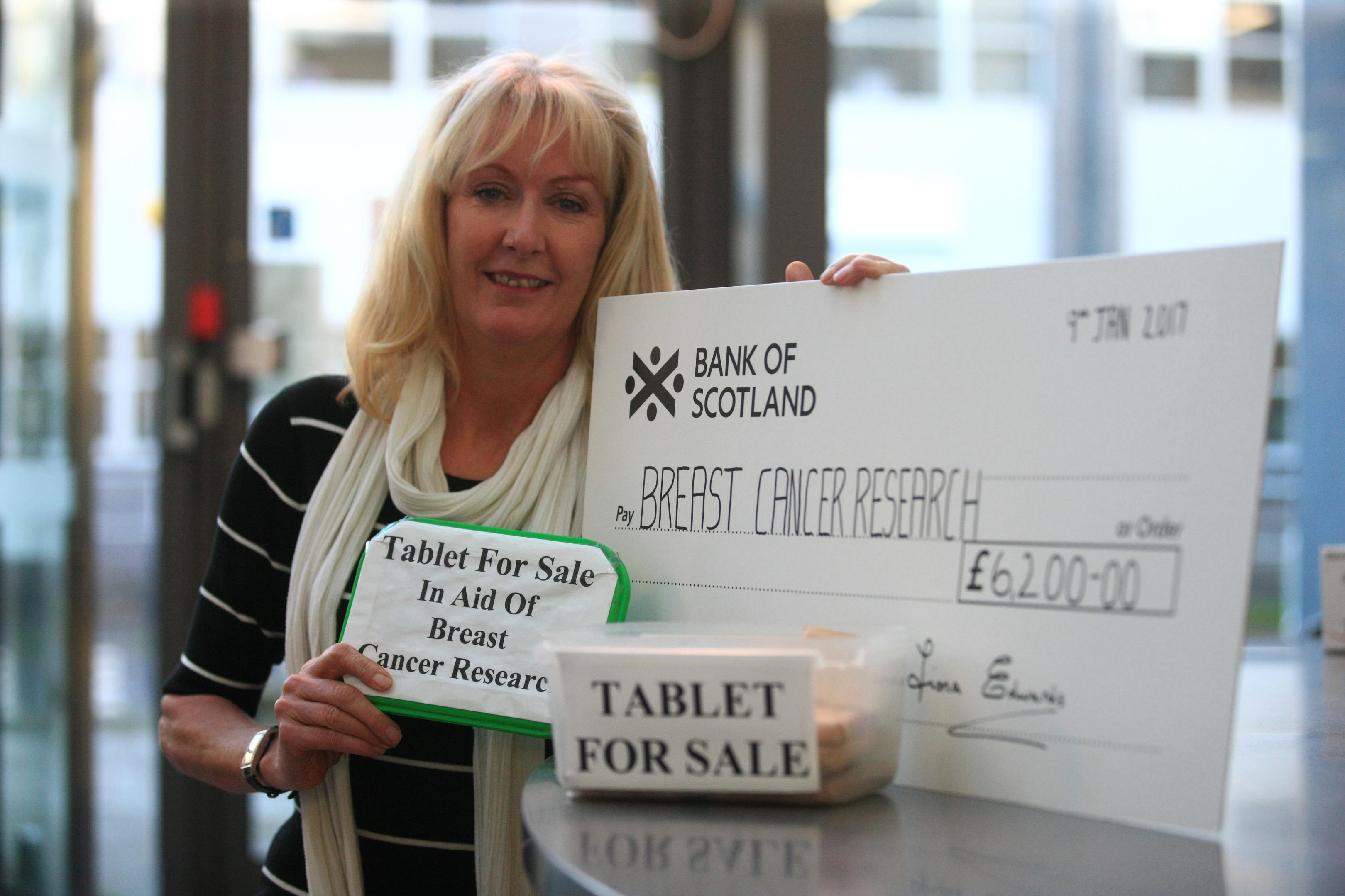 Fiona raised £6,000 in 2016.