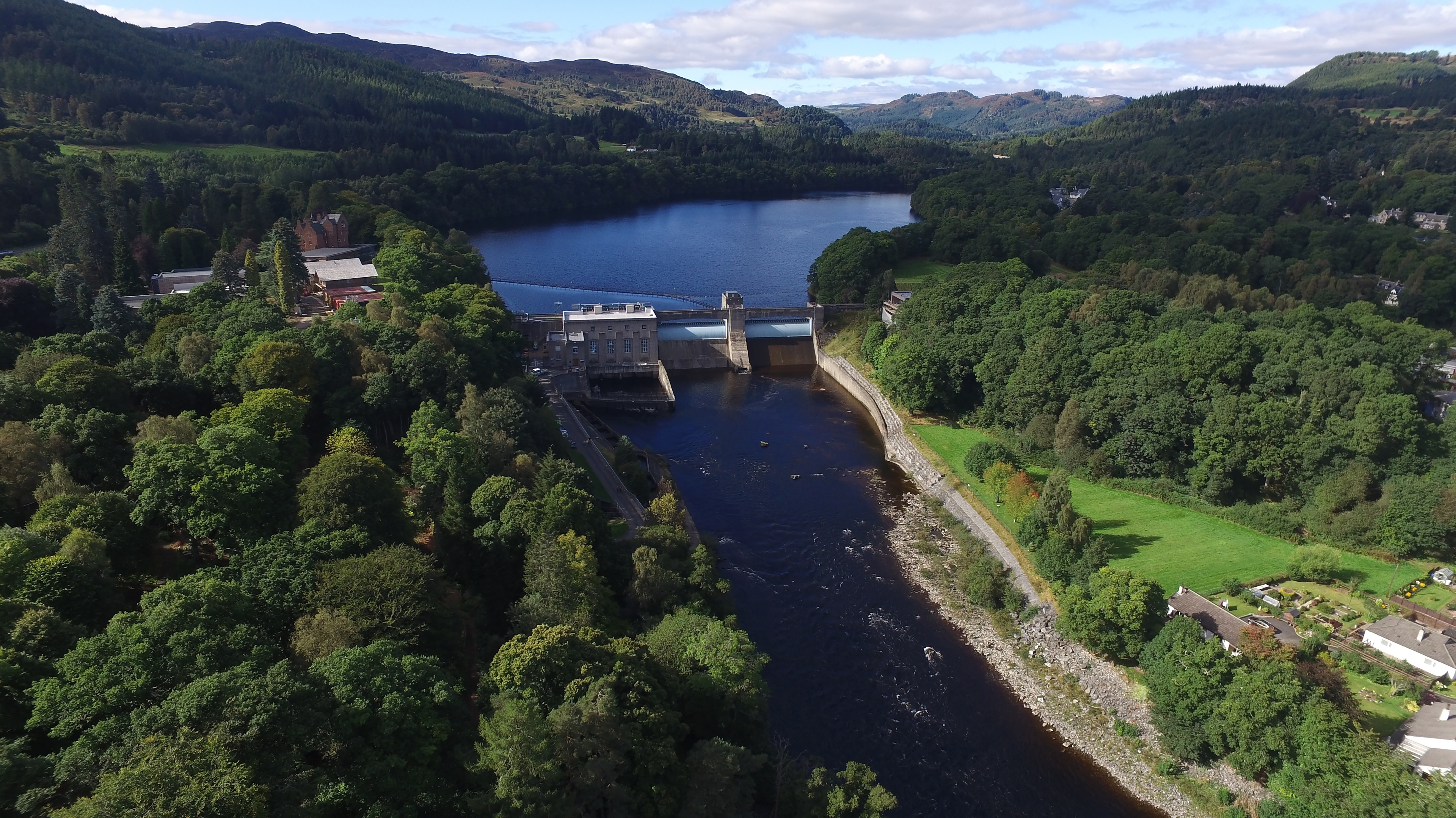 Pitlochry dam and visitor centre